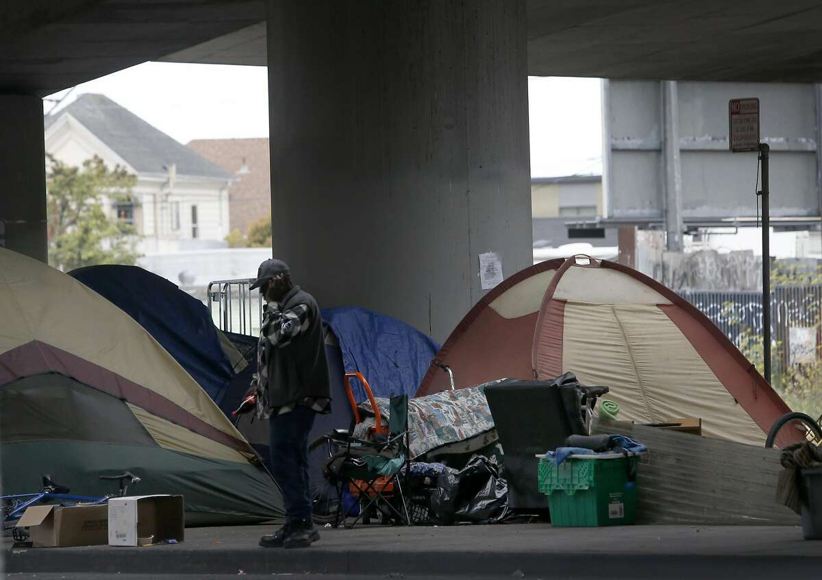 Homeless camps are popping up all over Oakland, including one at 35th and Peralta streets.