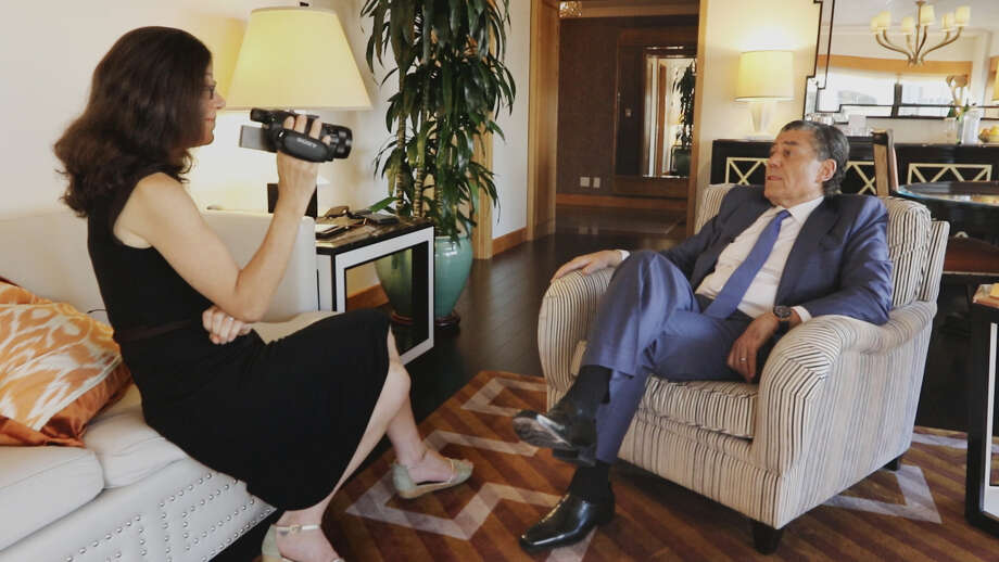 "Filmmaker Alexandra Pelosi interviews businessman Haim Saban during the filming of the documentary, ""Meet the Donors."" Photo: HONS / HBO"