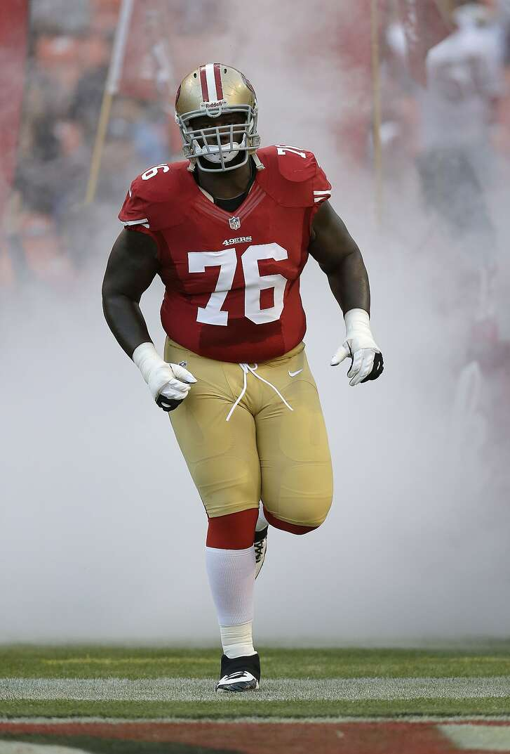 San Francisco 49ers offensive tackle Anthony Davis (76) is shown before an NFL preseason football game against the San Diego Chargers in San Francisco, Thursday, Aug. 30, 2012. (AP Photo/Marcio Jose Sanchez)
