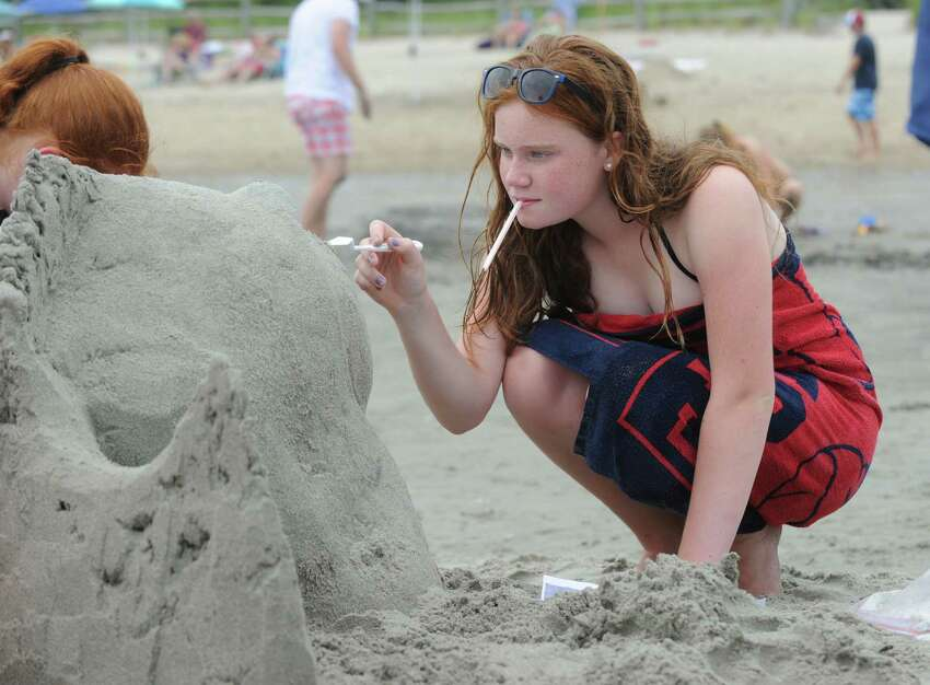 The annual Sandblast! sand sculpture competition sponsored by the Greenwich Arts Council and the Town of Greenwich Department of Parks and Recreation at Greenwich Point, Conn., Saturday, July 30, 2016.