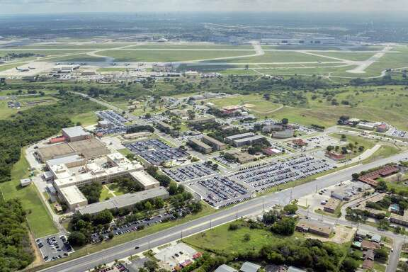 A look at the 25th Air Force complex from the air. The military generally is likely to benefit from President Trump's proposal to increase defense spending, but the city and state should be wary of the cuts in safety-net programs to pay for it.