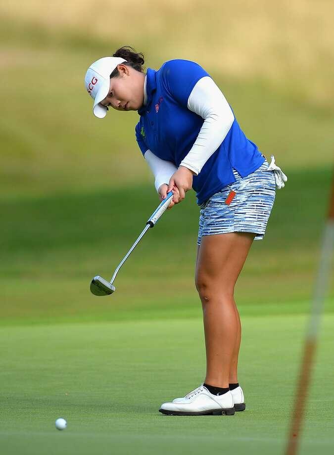 Ariya Jutanugarn broke the Women's British Open 54-hole scoring record. Photo: Tony Marshall, Getty Images