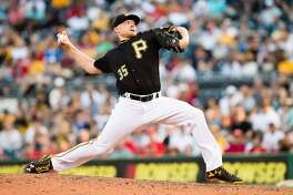 PITTSBURGH, PA - JULY 23:  Mark Melancon #35 of the Pittsburgh Pirates delivers a pitch in the ninth inning during the game against the Philadelphia Phillies at PNC Park on July 23, 2016 in Pittsburgh, Pennsylvania. (Photo by Justin Berl/Getty Images)