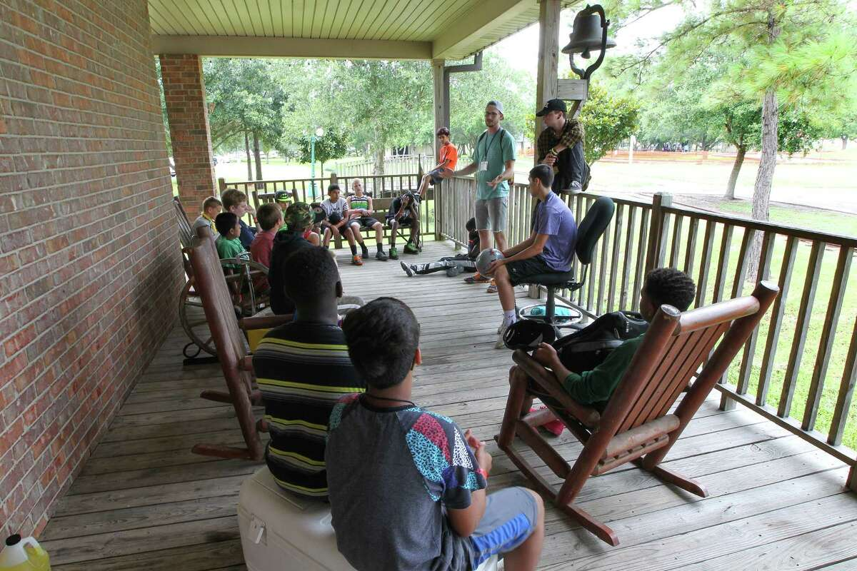 Champions Kids campers participate in their group time. Founders Bill and Kim Nash host the annual summer camp in Alvin for children who have survived accidents, serious illnesses or the death of loved ones.