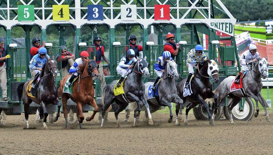 Horses break from the gate for the start of the Jim Dandy at Saratoga Race Course Saturday July 30, 2016 in Saratoga Springs, NY.  (John Carl D'Annibale / Times Union) Photo: John Carl D'Annibale / 20037488A