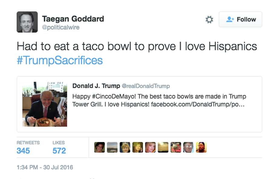 A tweet mocking Donald Trump's statement that he too has made sacrifices. Photo: Screenshot