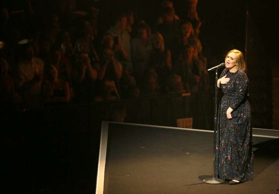 ST PAUL, MN - JULY 05: Singer Adele performs during the opening night of her North American concert tour at the Xcel Energy Center on July 5, 2016 in St Paul, Minnesota. (Photo by Adam Bettcher/Getty Images for BT PR) Photo: Adam Bettcher, Getty Images For BT PR