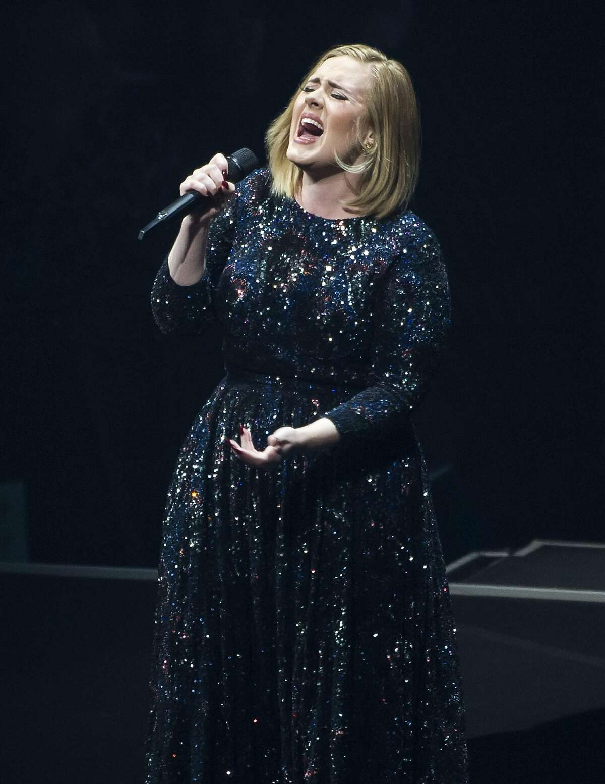 SAN JOSE, CA - JULY 30: (EXCLUSIVE COVERAGE) Adele performs on her North America tour at SAP Center on July 30, 2016 in San Jose, California. (Photo by Steve Jennings/Getty Images for BT PR)
