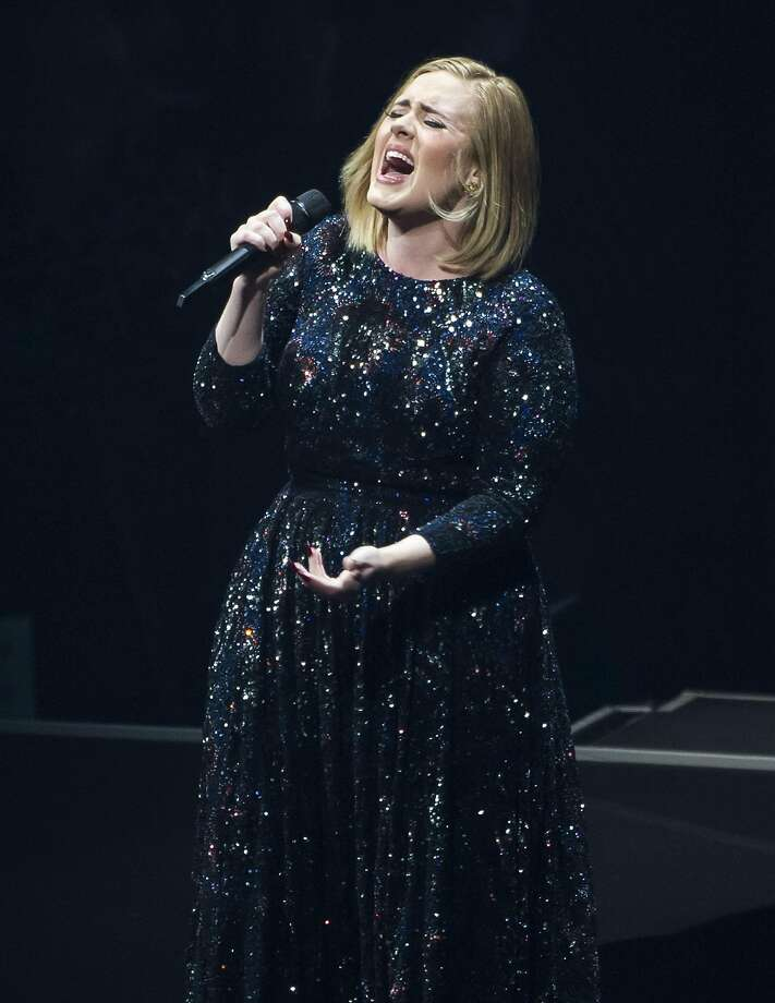 Adele performs on her North America tour at SAP Center on July 30, 2016 in San Jose, California. Photo: Steve Jennings, Getty Images For BT PR