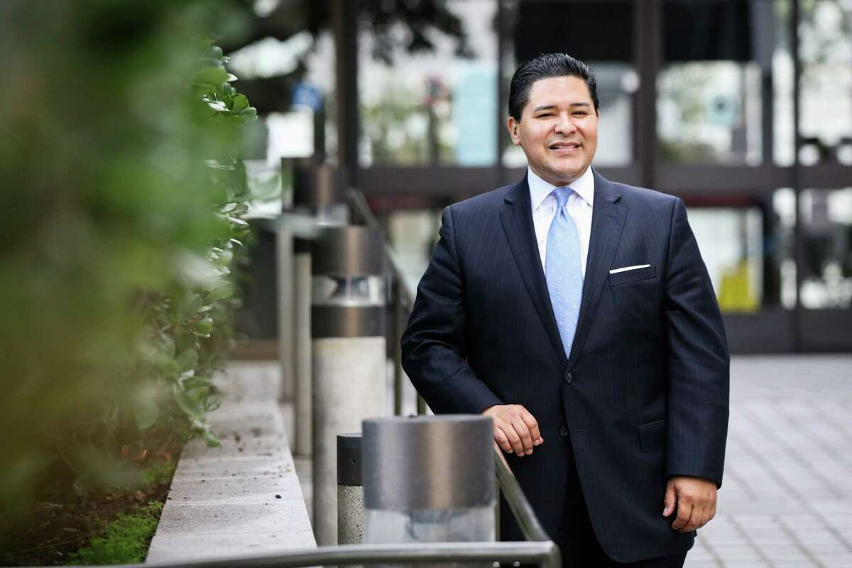 San Francisco's superintendent, Richard Carranza poses for a portrait outside his office in San Francisco, California on Monday, January 4, 2016.