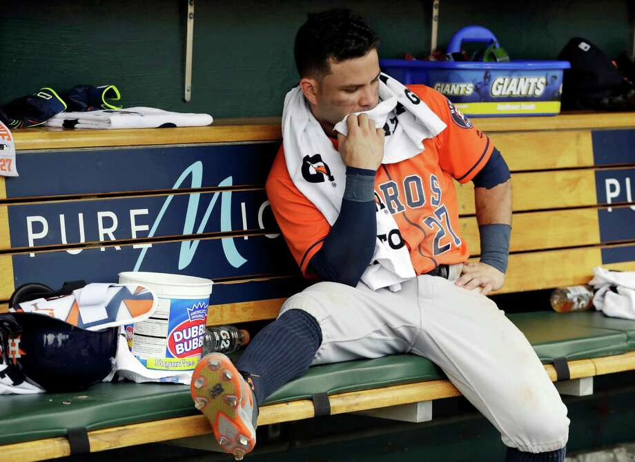 Jose Altuve is out of the lineup for the Astros' series opener against the Twins. Photo: Carlos Osorio, Associated Press / Copyright 2016 The Associated Press. All rights reserved. This material may not be published, broadcast, rewritten or redistribu
