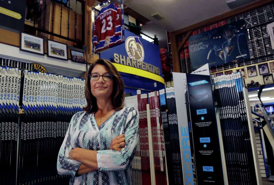Susan Frazier is the business manager for TSR Hockey in Salem, N.H. Small business owners are contending with a calendar problem that becomes a cash flow problem: They're waiting longer to get paid. At TSR Hockey, the customers include the owners of ice rinks and local sports teams whose orders for uniforms and equipment can run into the tens of thousands of dollars. In the last year, some customers have taken longer to pay: Two or three months, compared to a month previously. Photo: Elise Amendola /Associated Press / AP