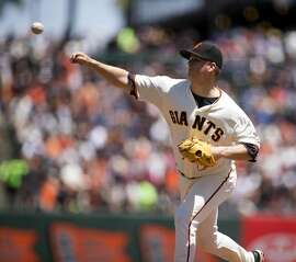 San Francisco Giants starting pitcher Matt Cain delivers against the Washington Nationals during the first inning of a baseball game Sunday, July 31, 2016, in San Francisco. (AP Photo/D. Ross Cameron)