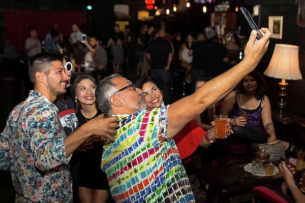 DJ Anitaboogie was dropping new wave, indie, and punk at The Bang Bang Bar's '80s Party Part 2 on Saturday Night, July 30, 2016.
