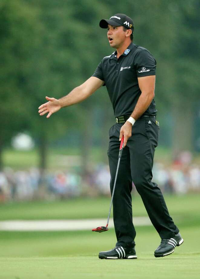 Jason Day reacts to missing a putt on the 18th hole during the final round of the PGA Championship golf tournament at Baltusrol Golf Club in Springfield, N.J., Sunday, July 31, 2016. Photo: Tony Gutierrez, AP / Copyright 2016 The Associated Press. All rights reserved. This material may not be published, broadcast, rewritten or redistribu