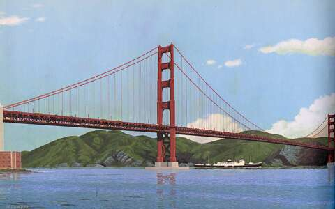 Golden Gate Bridge lower deck? Images from all the times it