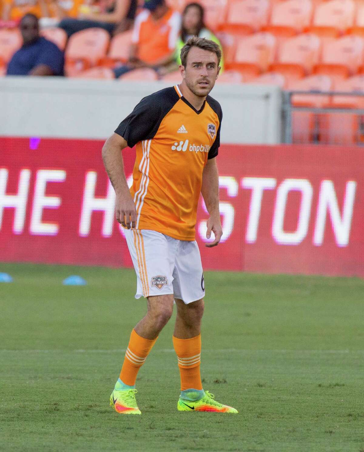 Houston Dynamo midfielder David Rocha (6) on the field during practice before action between the between the Houston Dynamo and the San Jose Earthquakes during an MLS soccer game at BBVA Compass, Sunday, July 31, 2016, in Houston. (Juan DeLeon/for the Houston Chronicle)