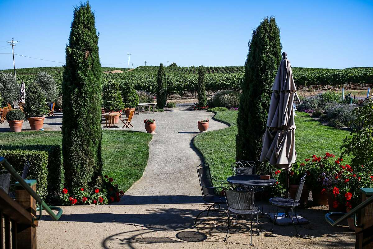 The grounds at Bouchaine winery, in Napa, California, on Monday, July 18, 2016.