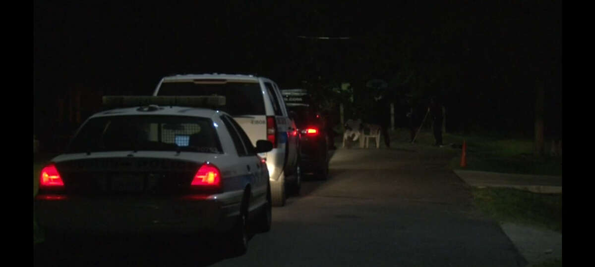 An 11-year-old boy accidentally shot himself with a gun about 9:50 p.m Sunday, July 31, 2016, at a home in the 300 block of De Haven in east Houston. (Metro Video)