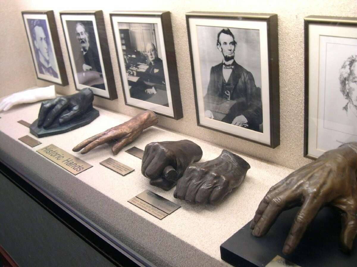 """The casts humanize the people attached to the hands, and taking a step back and thinking about what those hands accomplished is a key component of appreciating the exhibit. The hands that created the """"Peanuts"""" gang aren't too far away from the hands that placed an American flag on the moon."""