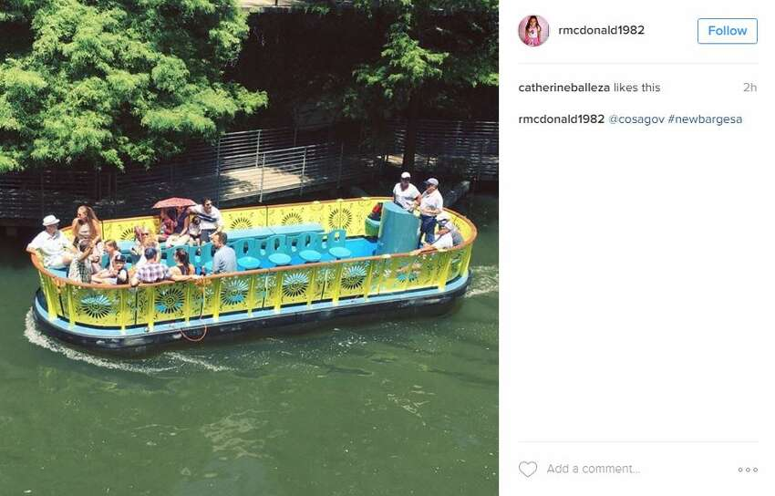 River Walk visitors were encouraged to snap photos of the new barges and share them on social media.