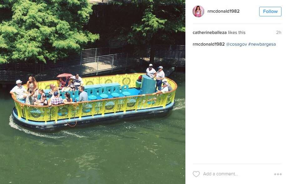 River Walk visitors were encouraged to snap photos of the new barges and share them on social media. Photo: Instagram Screenshot
