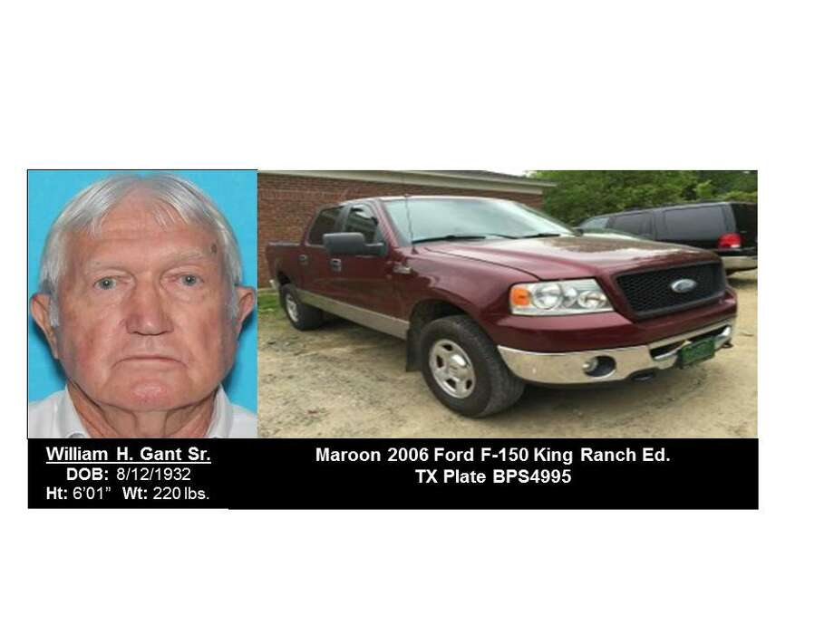 A Silver Alert was issued July 30, 2016, for William H. Gant Sr., last seen in Kountze. Those with information about Gant should contact the Hardin County Sheriff's Office. Photo contains updated image of Gant's truck. Photo: Texas Department Of Public Safety