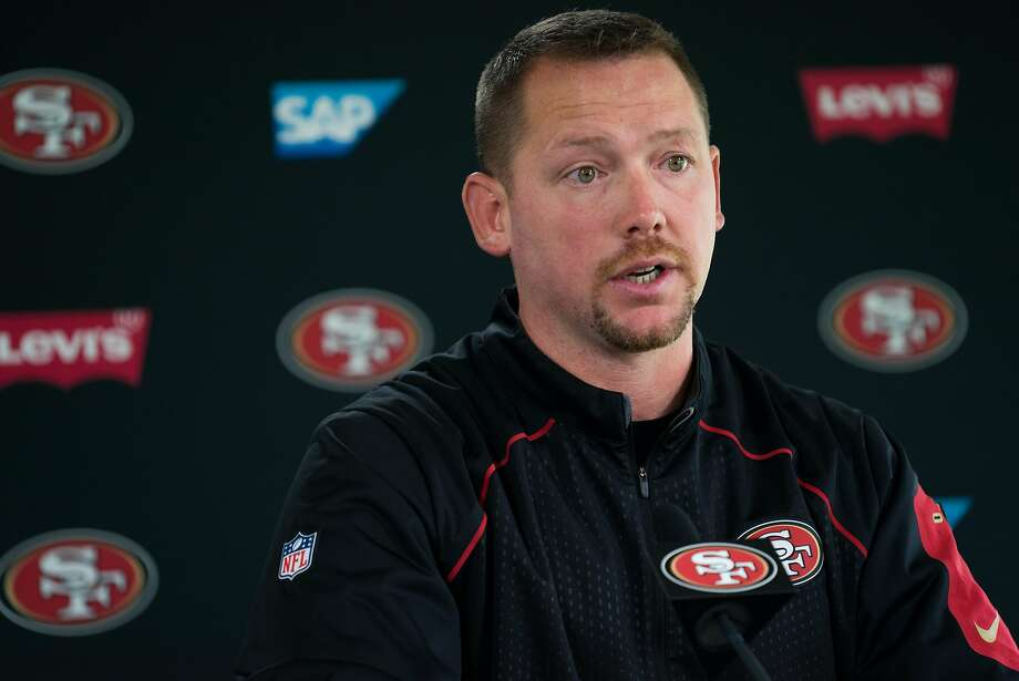 49ers Defensive Coordinator Jim O'Neil addresses the media before a practice at Levi's Stadium on Monday, Aug. 1, 2016. Photo: James Tensuan, Special To The Chronicle