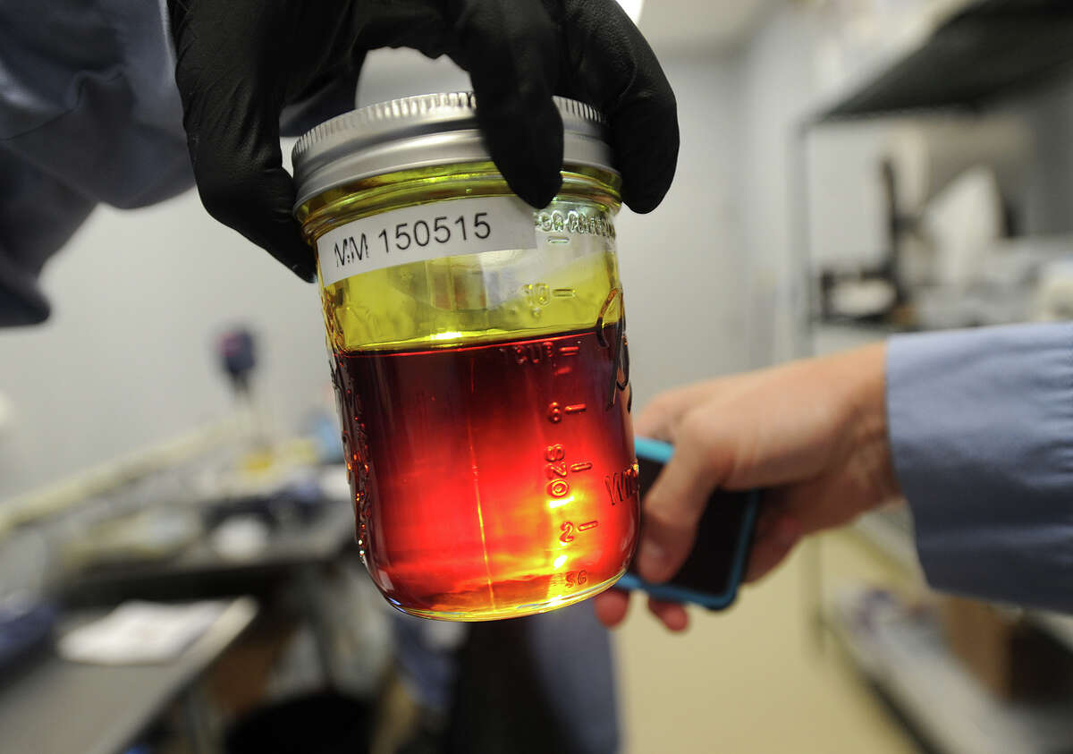 Refined cannabis oil, shown here at Advanced Grow Labs in West Haven, has replaced traditional marijuana flowers as the most-popular way to ingest medical marijuana.