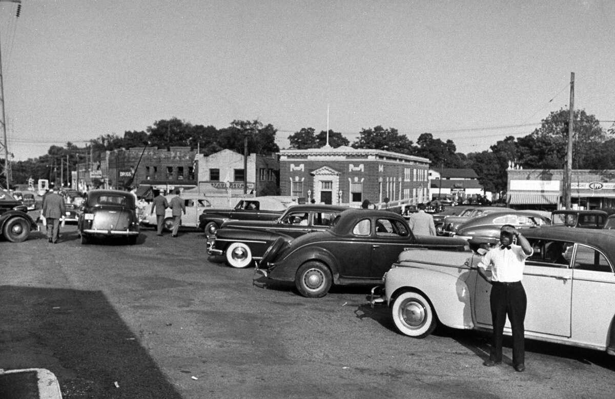 Darien train station, 1948.