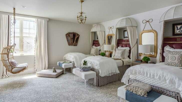 Houston interior designer Julie Dodson designed this three-bed bunk room for the 2016 Hampton Designer Showhouse in Sag Harbor, N.Y.