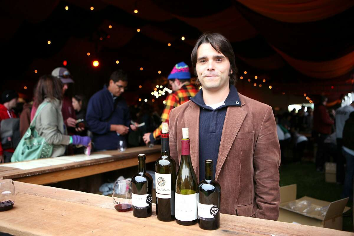 Wine Lands curator Peter Eastlake highlights some of the one hundred wines available for tasting during the weekend's Outside Lands Music and Arts Festival, held at Golden Gate Park.
