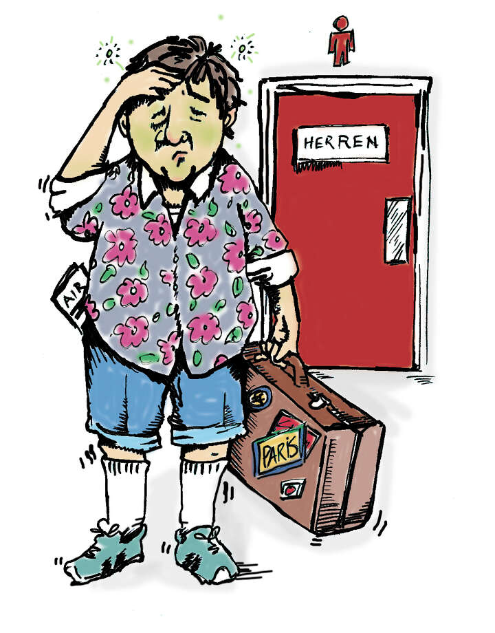 Illustration for story on the health hazards of traveling. Photo: MARTHA STROUD, STAFF / SAN ANTONIO EXPRESS-NEWS
