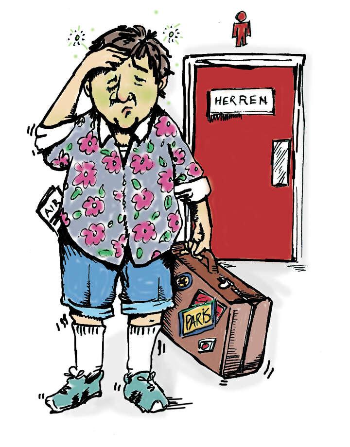 Illustration for story on the health hazards of traveling. Photo: MARTHA STROUD, STAFF / SAN ANTONIO EXPRESS-NEWS