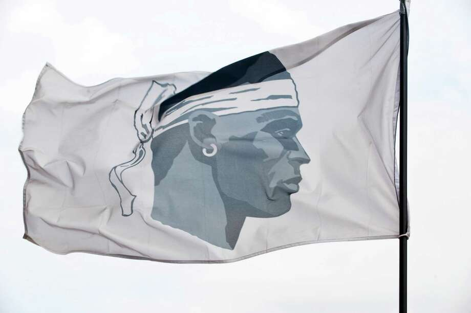 The Moor's head flag of Corsica flies on the French island in March, 2016.  Corsica is a resilient and dramatically beautiful island that holds itself apart from mainland France. (Susan Wright/The New York Times) Photo: SUSAN WRIGHT, STR / NYTNS