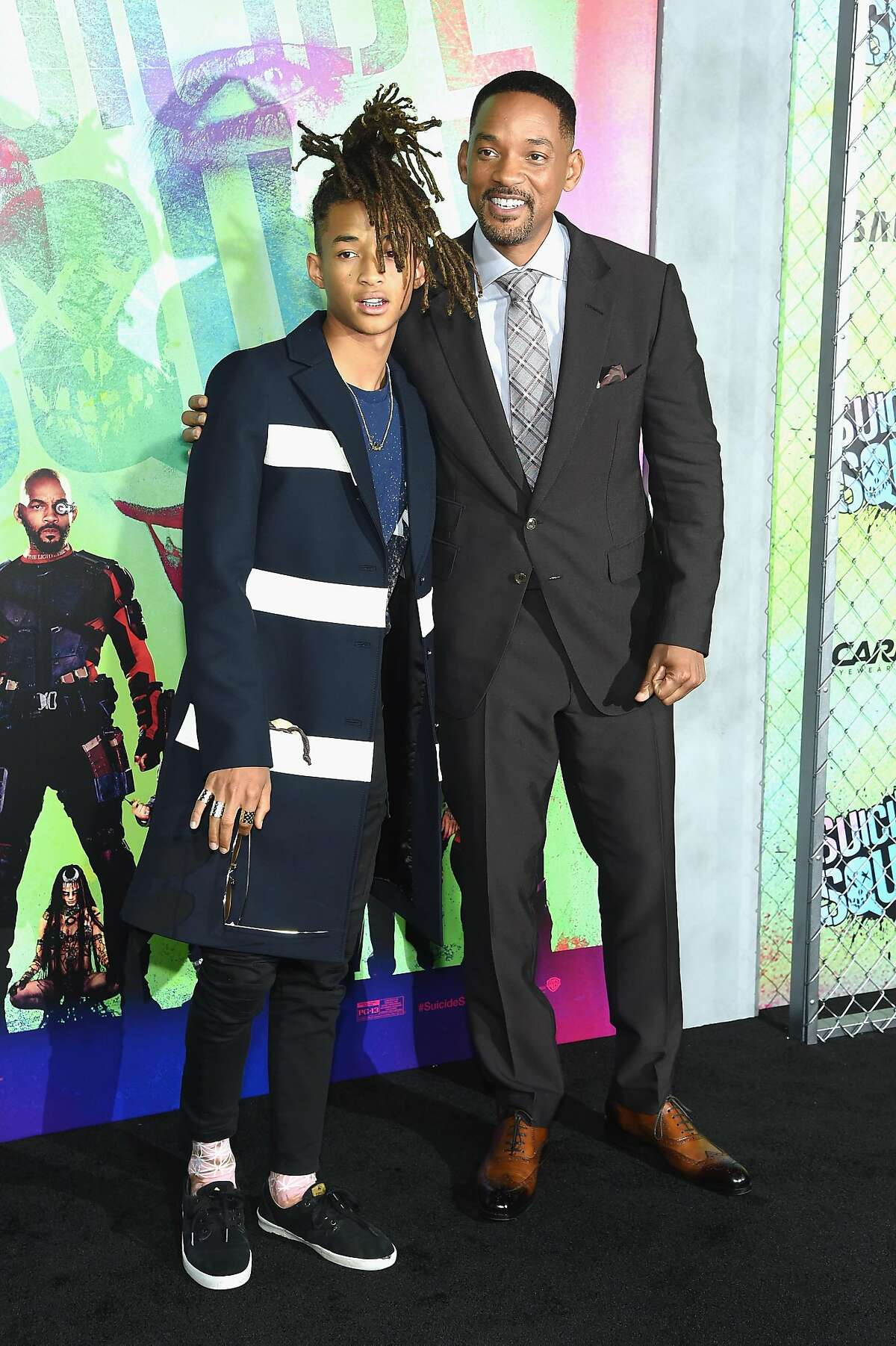 NEW YORK, NY - AUGUST 01: Jaden Smith and Will Smith attend the
