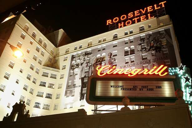 """HOLLYWOOD - NOVEMBER 01:  General view of the hotel exterior at the AFI FEST presented by Audi opening night gala of """"Bobby"""" after party held at The Hollywood Roosevelt Hotel on November 1, 2006 in Hollywood, California.  (Photo by Frazer Harrison/Getty Images)"""