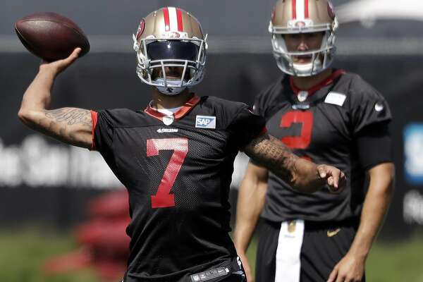 6bd5cba6043 49ers  bulked-up Colin Kaepernick ditches high school look ...