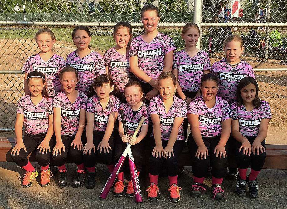 The Norwalk Crush U8 softball team just wrapped up its first season of All-Star ball this season, competing in a number of tournaments and showing improvement along the way. Team members include, sitting, from left, Samantha Horton, Keira Gilchrist, Margaret Donahue, Reilly McGovern, Madison O'Brien, Kaylie Colonello and Avery Vaccaro; standing, from left, Kate Putterman, Sophia Maillard, Madison Collins, Kelly O'Malley, Ella Pons and Victoria Maillard. Missing from photo is Charlotte Snyder. Photo: Contributed Photo /