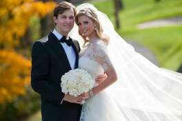 In this handout image provided by Ivanka Trump and Jared Kushner, Ivanka Trump (R) and Jared Kushner (L) attend their wedding at Trump National Golf Club on October 25, 2009 in Bedminster, New Jersey. (Photo Brian Marcus/Fred Marcus Photography via Getty Images)