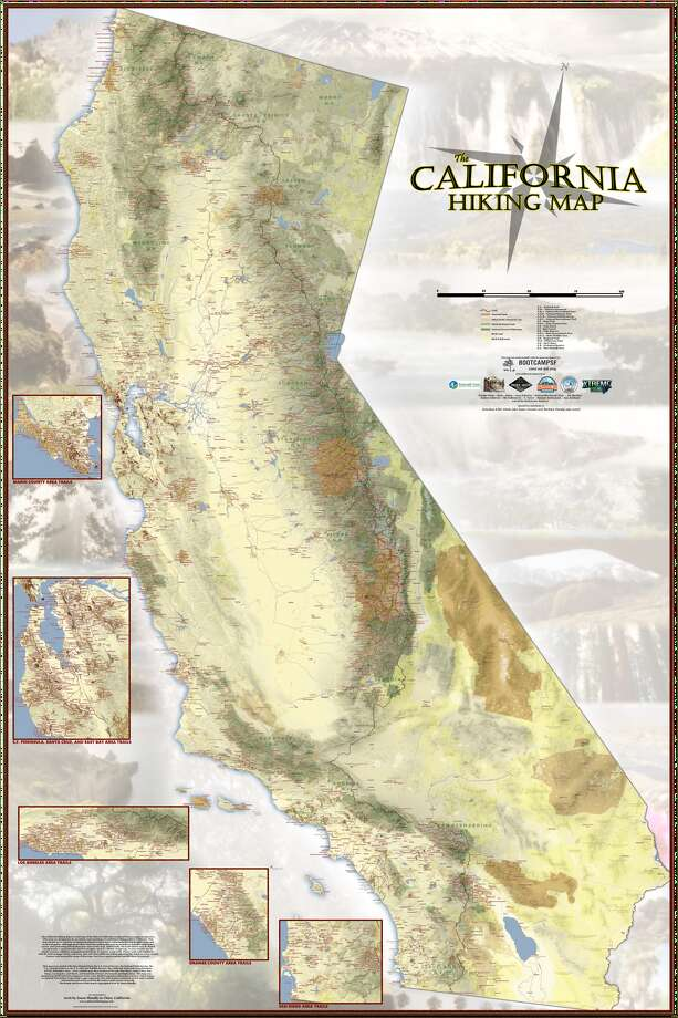Find Your Next Hike On Detailed Huge Trail Map Of California SFGate - Detailed map of california