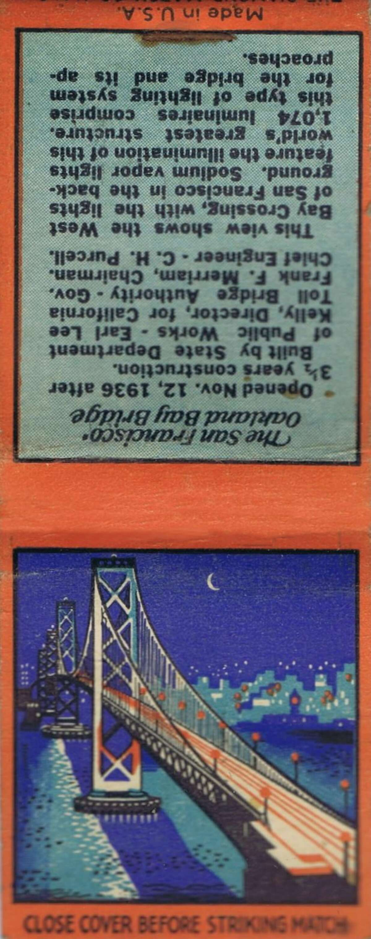 Vintage matchbooks from the 1940s, with San Francisco related covers. From the collection of Bob Bragman