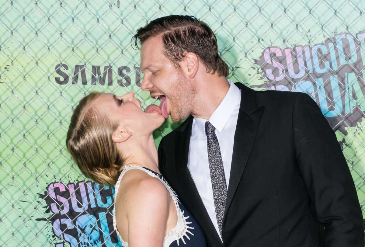 """Jim Parrack and Leven Rambin attend the world premiere of """"Suicide Squad"""" at The Beacon Theatre on August 1, 2016 in New York City."""