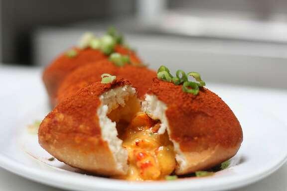 Savory crawfish beignets from Brenda's Soul Food