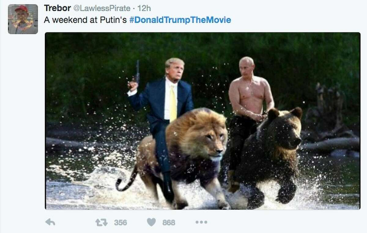 The hashtag #DonaldTrumpTheMovie went viral Monday and Tuesday as thousands of Twitter users cast the candidate in bad movies. Here is a sampling of the titles.