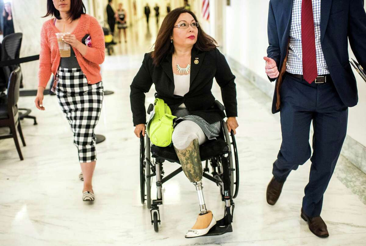 Senator U.S. Rep. Tammy Duckworth was recently elected to the Senate from Illinois. She lost both legs when she was a helicopter pilot in the Iraq War.