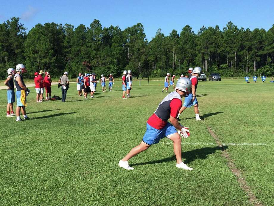The Lumberton High School football team practices Tuesday morning. Photo taken Aug. 2, 2016 Photo: Danny Shapiro/The Enterprise