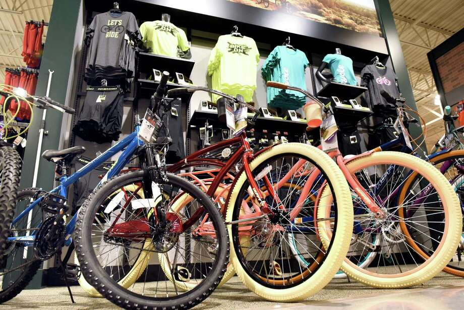 Dick's Sporting Goods is taking up to 50% off a selection of men's, women's, and kids' bikes, gear and accessories. Photo: Cindy Schultz / Albany Times Union
