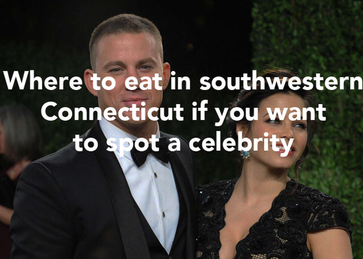 Here's where celebrities were seen dining in southwestern Connecticut this year.