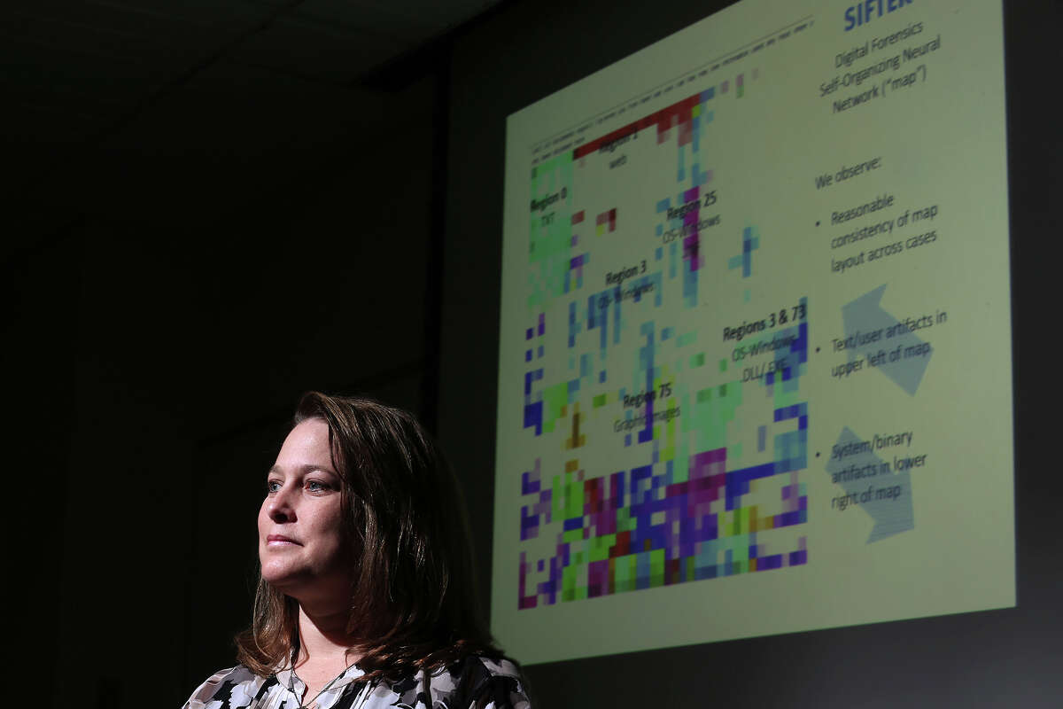 University of Texas at San Antonio cyber security professor Nicole Beebe is one of the lead researches developing a new threat-detection system that can protect companies and government organizations from insider leaks of information.